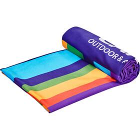 CAMPZ Ręcznik plażowy z mikrofibry 90x200cm, rainbow
